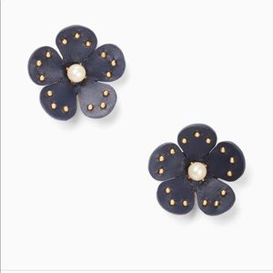 Kate Spade NY Blooming Bling Leather Earrings